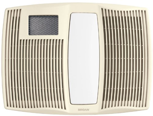 Broan qtx110hl ultra silent series bath fan with heater and light iece combo kit0405 for Bathroom fan heater light combo