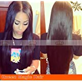 Brazilian Straight Silky Virgin Human Hair Wigs Lace Front Glueless