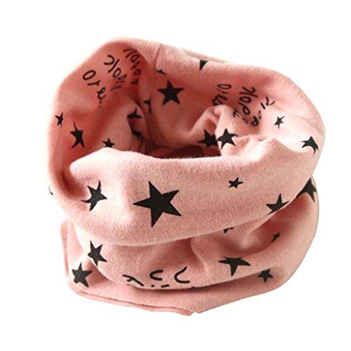 Ularma Autunno Inverno Ragazze Dei Ragazzi Sciarpe Collare Bambino Sciarpa O Anello Di Cotone (ROSA)