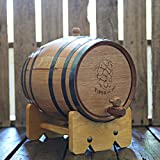 10-liter American Oak Barrel | Handcrafted using American White Oak | Age your own Whiskey, Beer, Wine, Bourbon, Tequila, Hot Sauce & More