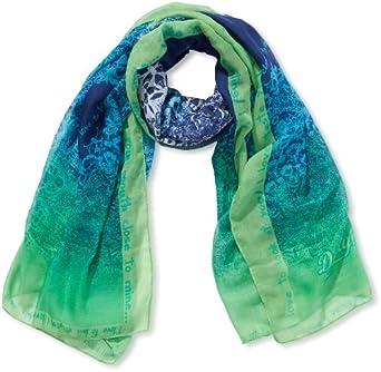 Desigual - sian - foulard - imprimé - femme - bleu (medieval blue) - taille unique