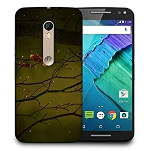 Snoogg Dew Drops In Trees Printed Protective Phone Back Case Cover For Motorola X Style