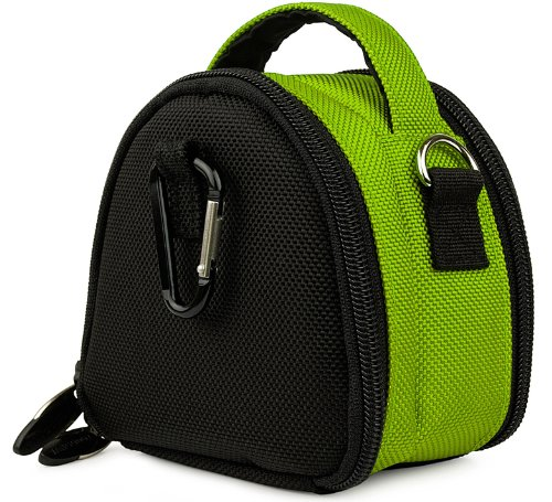 Green Limited Edition Camera Bag Carrying Case With Extra Accessory Compartment For Canon Power-Shot A490 A495 A800 A1200 A2200 A3000 Is A3100 Is A3300 Is D10 Elph 100 Hs Elph 300 Hs Elph 310 Hs Elph 500 Hs Elph 510 Hs S95 Sd970 Is Sd1300 Is Sd1400 Is Sd3