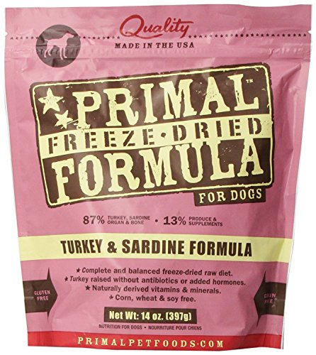 Primal Pet Foods Freeze-Dried Canine Turkey And Sardine Formula(2Pack)