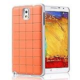 Buena calidad Samsung Glaxay Nota 3 DE LUJO CRISTAL Cruz Naranja Caso duro de la cubierta del diamante de Bling con marco blanco para Samsung Glaxay Nota 3