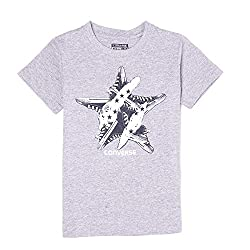Converse Boys' T-Shirt (617847048098_Vinrage Grey Heather_4 - 5 Years)