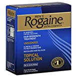 Rogaine Hair Regrowth Treatment, Men's, Extra Strength, Unscented, 2 oz.