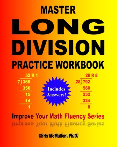 Master Long Division Practice Workbook Improve Your Math Fluency Series [Chris McMullen] (Tapa Blanda)