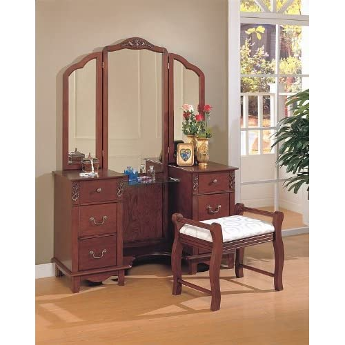 finish wood large dressing makeup bedroom vanity set vanity mirrors