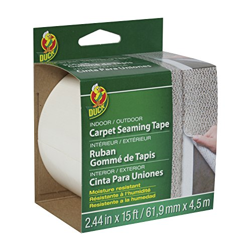 duck-brand-442063-self-adhesive-fiberglass-carpet-seaming-tape-244-inch-by-15-feet-single-roll
