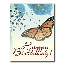 Botanical Butterfly II - Birthday Gift Enclosure Cards (set of 12)