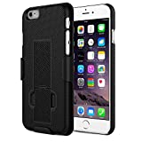 MoKo iPhone 6s Case - [Revised Version / Fixed Belt Clip Holster] Slim Hard Shell Holster Combo Case for Apple iPhone 6 / 6s 4.7 Inch Smart Phone, BLACK
