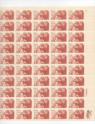 Aging Together Sheet of 50 x 20 Cent US Postage Stamps NEW Scot 2011