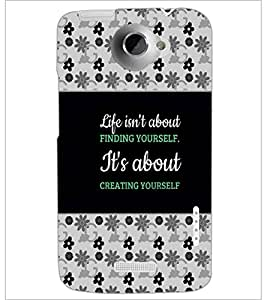 PrintDhaba Quote D-4668 Back Case Cover for HTC ONE X (Multi-Coloured)