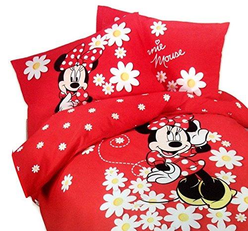 Parure Copripiumino UNA PIAZZA CALEFFI Disney MINNIE Margherite ROSSO N°55 - ESCLUSO SOTTO LENZUOLO