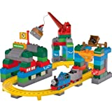 Cool Thomas & Friends Deluxe Starter Set by Mega Bloks with accompanying HSB Storage Bag