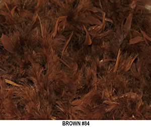 Solid Boas 6 Foot Long 50 Gram in a Variety of Shades Great for Parties, Crafts, and Fun! (Brown #84)