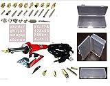 SIS 38 Pc Pyrography Wood Burning Solder Set With Hanging Organizer Storage Box