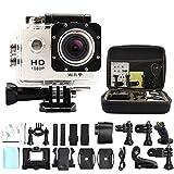 Sogo Go Pro Style Action Camera SJ4000 WiFi Waterproof 30m 1080P Full HD 1.5' Screen Wide Angle Sport DV Mini Camcorder + Camera Bag(white)