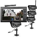 ieGeek-7-Zoll-TFT-Digital-24G-drahtlose-Kameras-Audio-Video-Recorder-Babyfone-4CH-Quad-DVR-Sicherheitssystem-mit-4pcs-IR-Nachtsicht-Kameras