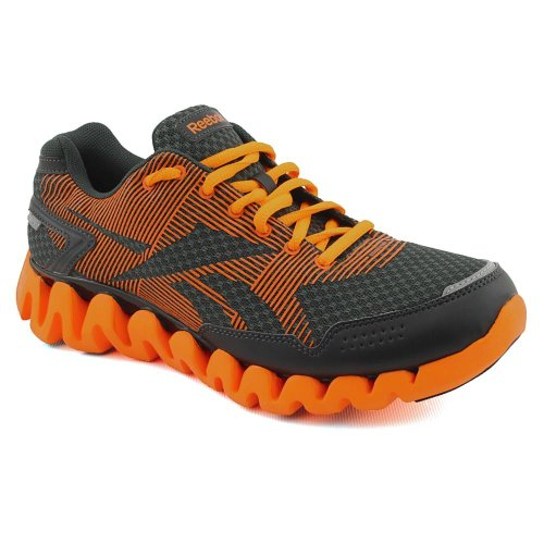Reebok Men's ZigRhythm Running Shoe,Black/Orange/Paprika,8.5 M US