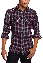 J.C. Rags Men's Brushed Check Shirt