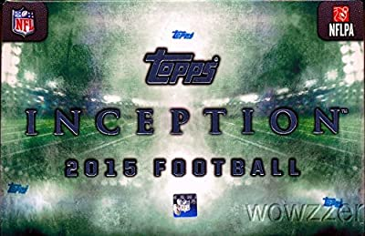 2015 Topps Inception NFL Football Factory Sealed HOBBY Box with THREE(3) AUTOGRAPH/RELIC Cards! Look for Rookies,Autographs & Relics of Jameis Winston, Marcus Mariota and all Top 2015 Draft Picks!