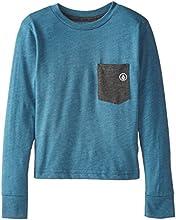 Volcom Little Boys39 Fall Switch Long Sleeve Pocket T-Shirt