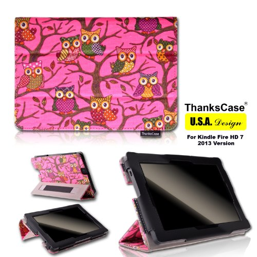 #>>  Thankscase Owls Cover for Amazon All New Kindle Fire Hd 7 2nd Gen 2013 Release (Not Fit Kindle Fire Hd 7