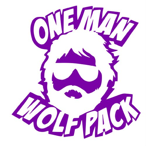 Amazon.com: One Man Wolf Pack 6 Inch Purple Decal Sticker The Hangover