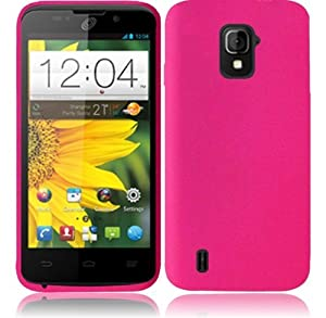 For ZTE Majesty Z796C Silicone Jelly Skin Cover Case (Hot Pink)