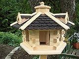 Vogelhaus-Gaube Groß (V31) Vogelhäuser Vogelfutterhaus Vogelhäuschen-aus Holz-