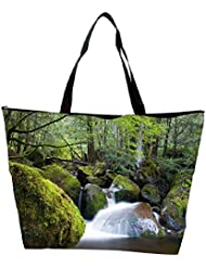 Snoogg Water Flowing Throiugh The Stones Designer Waterproof Bag Made Of High Strength Nylon