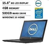 "2016 Newest Dell Inspiron i3542-0000blk 15.6"" Premium High Performance Laptop, Intel Celeron Dual-Core Processor 2957U, 4GB, 500GB, HD LED-backlit Display, WiFi, HDMI, Bluetooth"