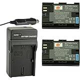 DSTE® アクセサリーキット Canon LP-E6 LP-E6N 互換 カメラ バッテリー 2個+充電キット対応機種 5D 7D Mark II III 5DS 5DS R 6D 60D 60Da 70D