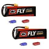 おもちゃ Venom ベノム Fly 30C 6S 2500mAh 22.2V LiPO Battery with Universal 2.0 Plug x2 packs [並行輸入品]