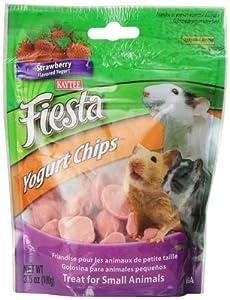 Kaytee Fiesta Yogurt Straw Chip Snacks for Small Animals, 3.5-Ounce