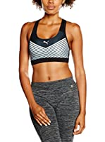 Puma Top Bustier PWRSHAPE Forever Graphic (Negro / Blanco)