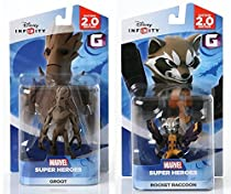 Disney INFINITY Marvel Super Heros (2.0 Edition) - Groot and Rocket Raccoon Figures from Guardians of the Galaxy Bundle by Disney Infinity