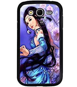 Printvisa A Girl In A Blue Dress Back Case Cover for Samsung Galaxy Grand Neo Plus::Samsung Galaxy Grand Neo Plus i9060i