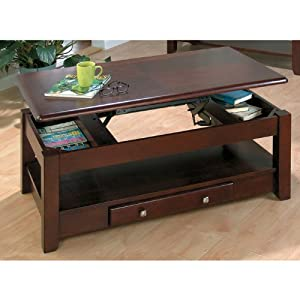 Jofran 280 1 vintner merlot lift top cocktail for Coffee tables on amazon