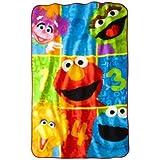 "Sesame Street Super Plush Twin Size Blanket; 62"" x 90"""