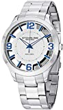 """Stuhrling Original Mens Watch """"Specialty Winchester"""" Swiss Quartz Stainless Steel Transparent Silver Dial Water Resistant Watches"""