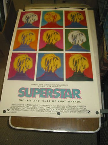 SUPERSTAR- LIFE AND TIMES OF ANDY WARHOL/ORIG. U.S. ONE SHEET MOVIE POSTER ()