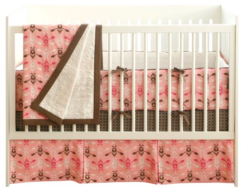JJ Cole 4 Piece Crib Bedding Set in Pink Vintage
