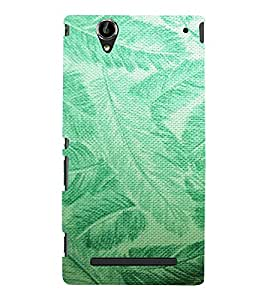ARTISTIC LEAVES PATTERN DEPICTING THE BEAUTY OF NATURE 3D Hard Polycarbonate Designer Back Case Cover for Sony Xperia T2 Ultra :: Sony Xperia T2 Ultra Dual