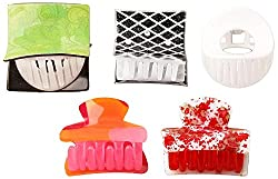 Takspin Multicolor Plastic Clutches for Women - Set of 5