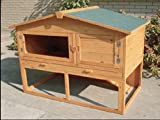 Kaninchenstall XL auf 2 Etagen Stall Komplettset