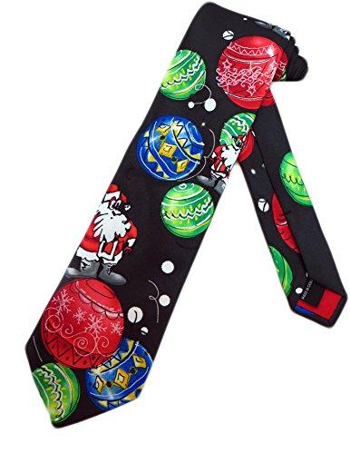 Jerry Garcia Mens Christmas Santa Necktie - Black - One Size Neck Tie (Jerry Garcia Christmas Ties compare prices)