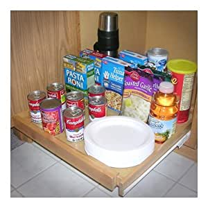 EXPANDABLE PULL OUT CABINET SHELF, WOOD